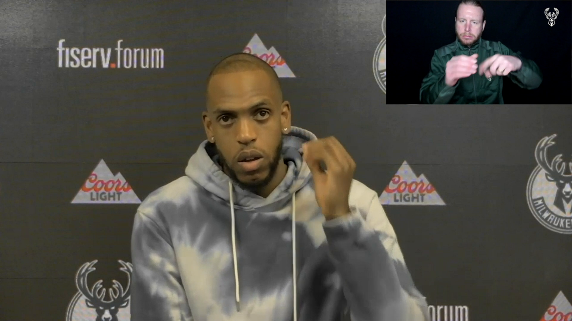 Khris Middleton ASL Press Conference | 2.21.21