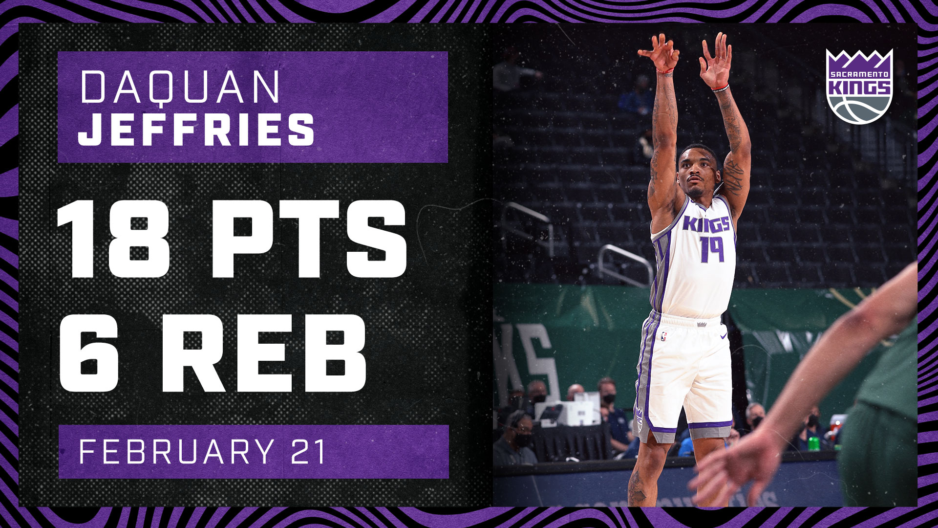 DaQuan Jeffries Stepped Up with a CAREER-HIGH 40 Minutes | Kings vs Bucks 2.21.21