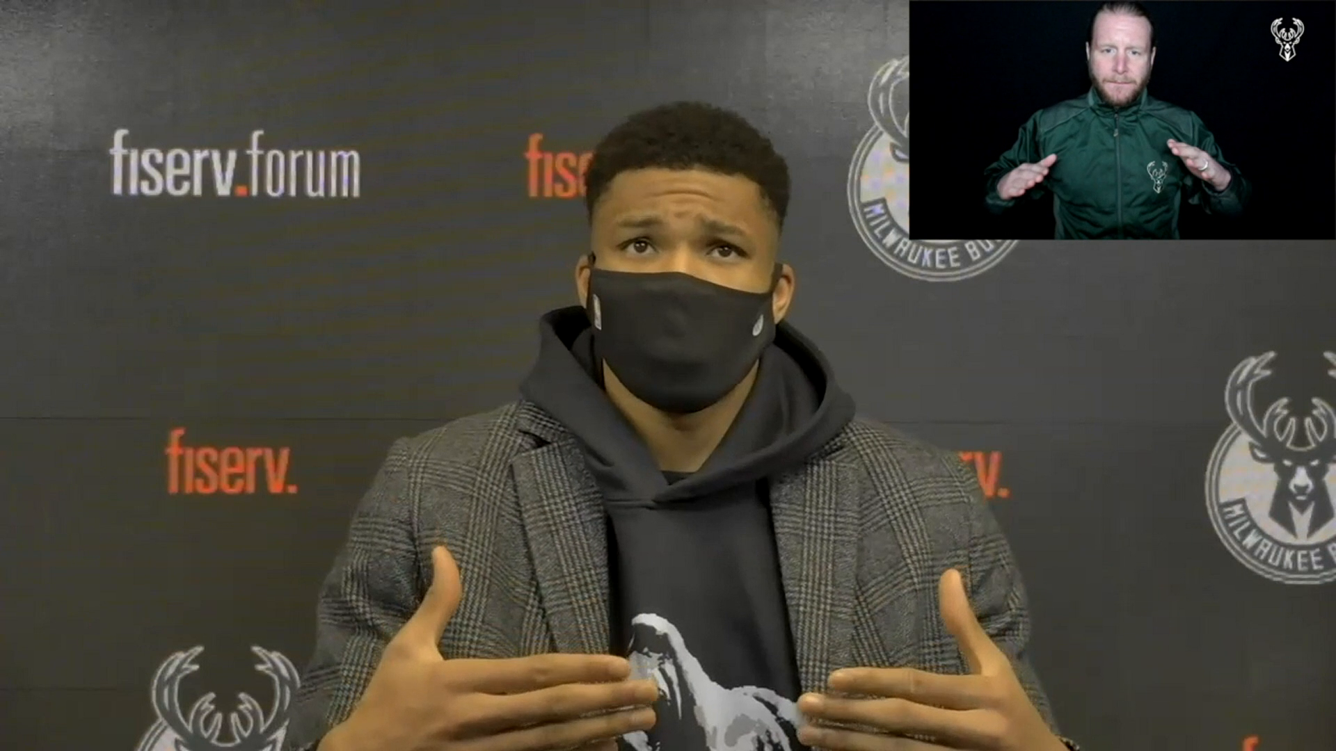 Giannis Antetokounmpo ASL Press Conference | 2.21.21