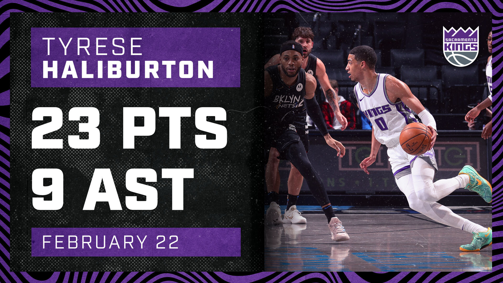 Haliburton Ties Career-High Mark Against Nets | Kings vs Nets 2.23.21