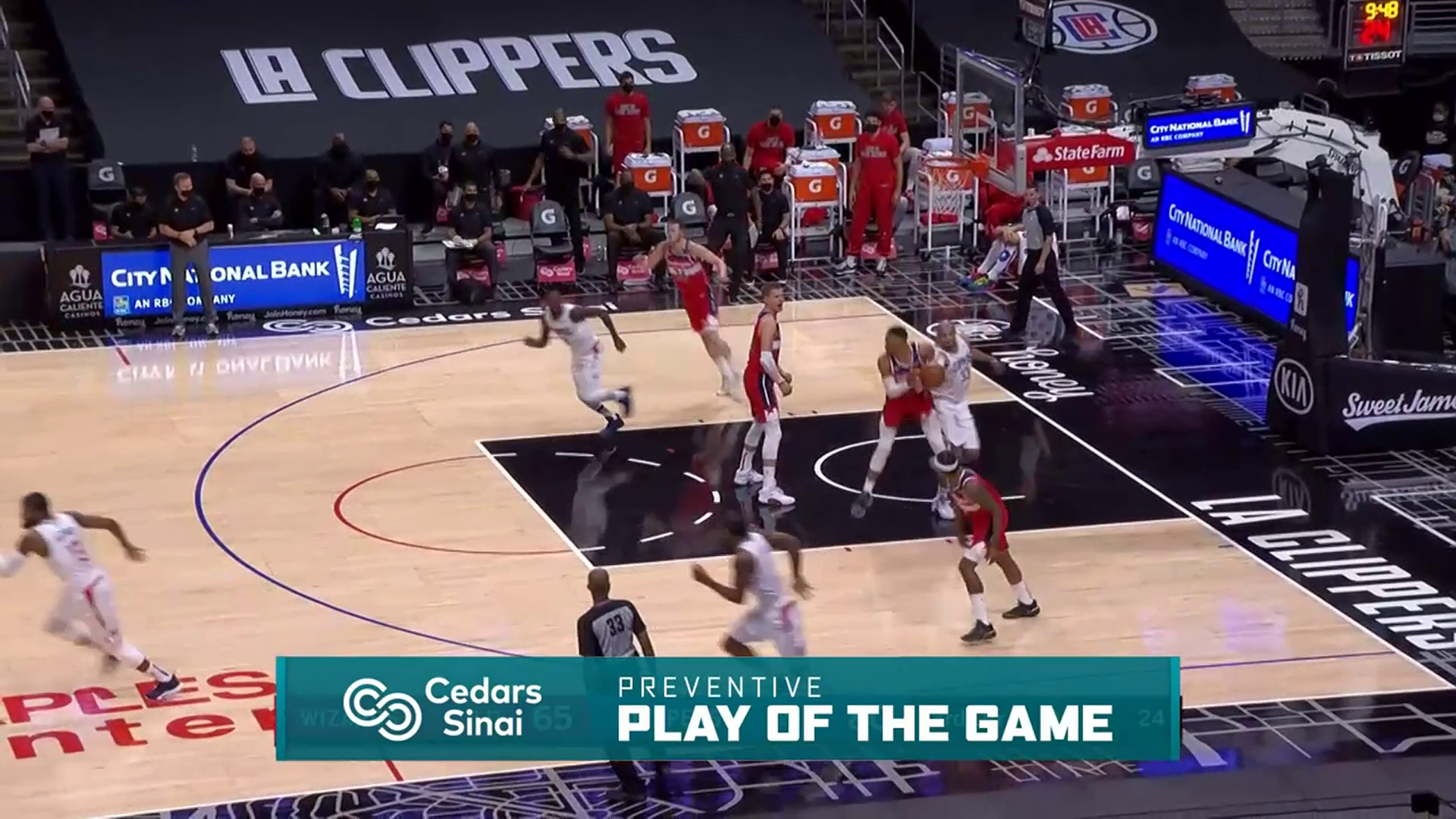 Cedars-Sinai Preventive Play of the Game | Clippers vs Wizards (2.23.21)