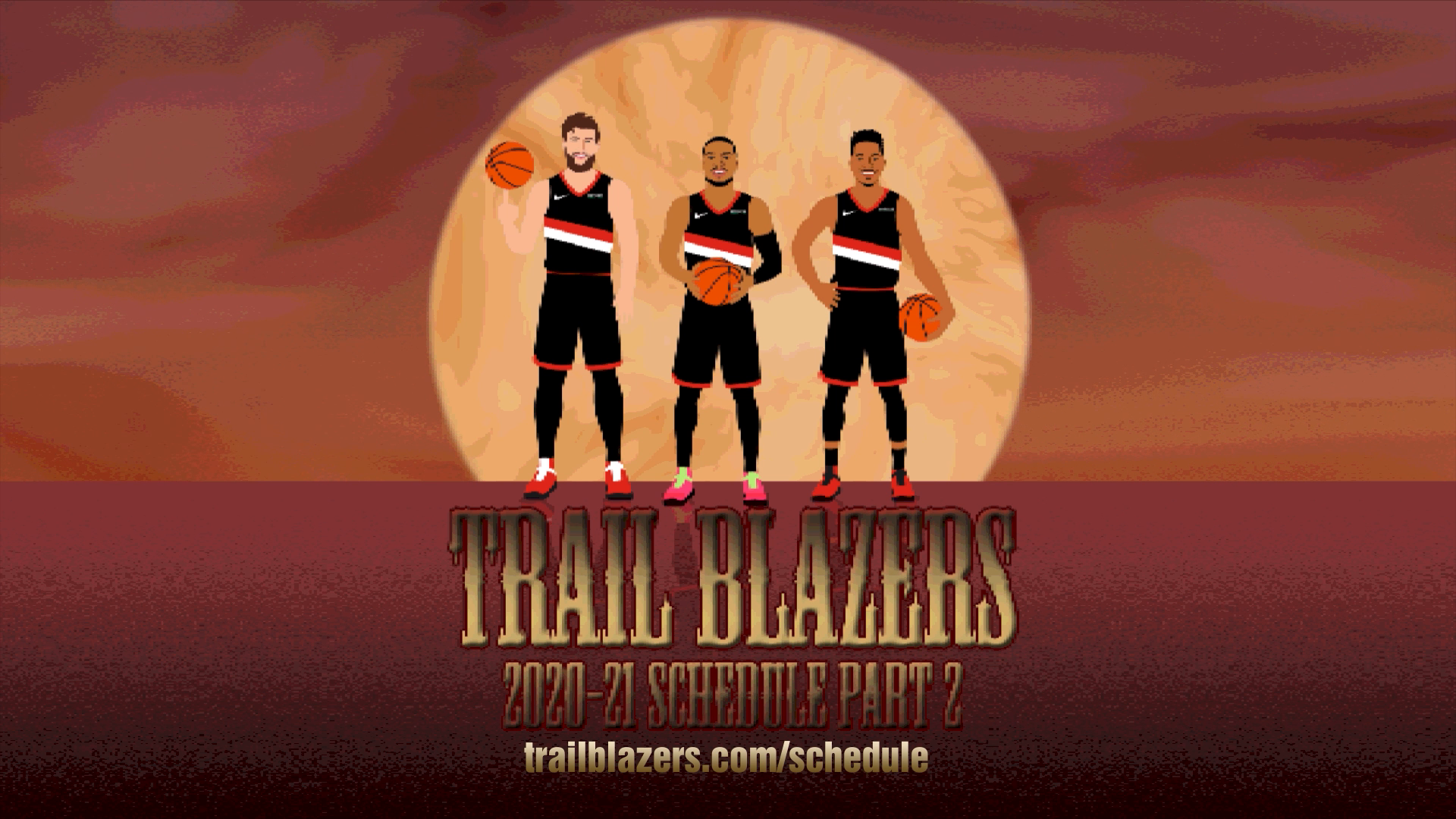 Second Half of 2020-21 Trail Blazers Schedule