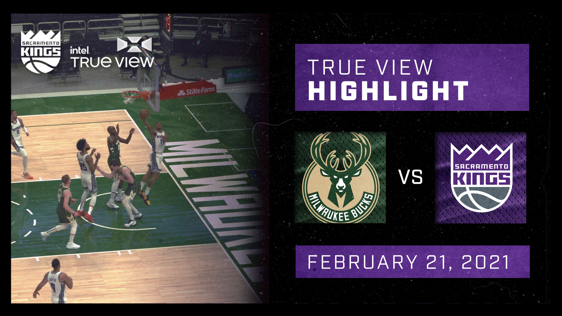Intel True View Highlight - Jeffries Layup @ Bucks 2.21.21