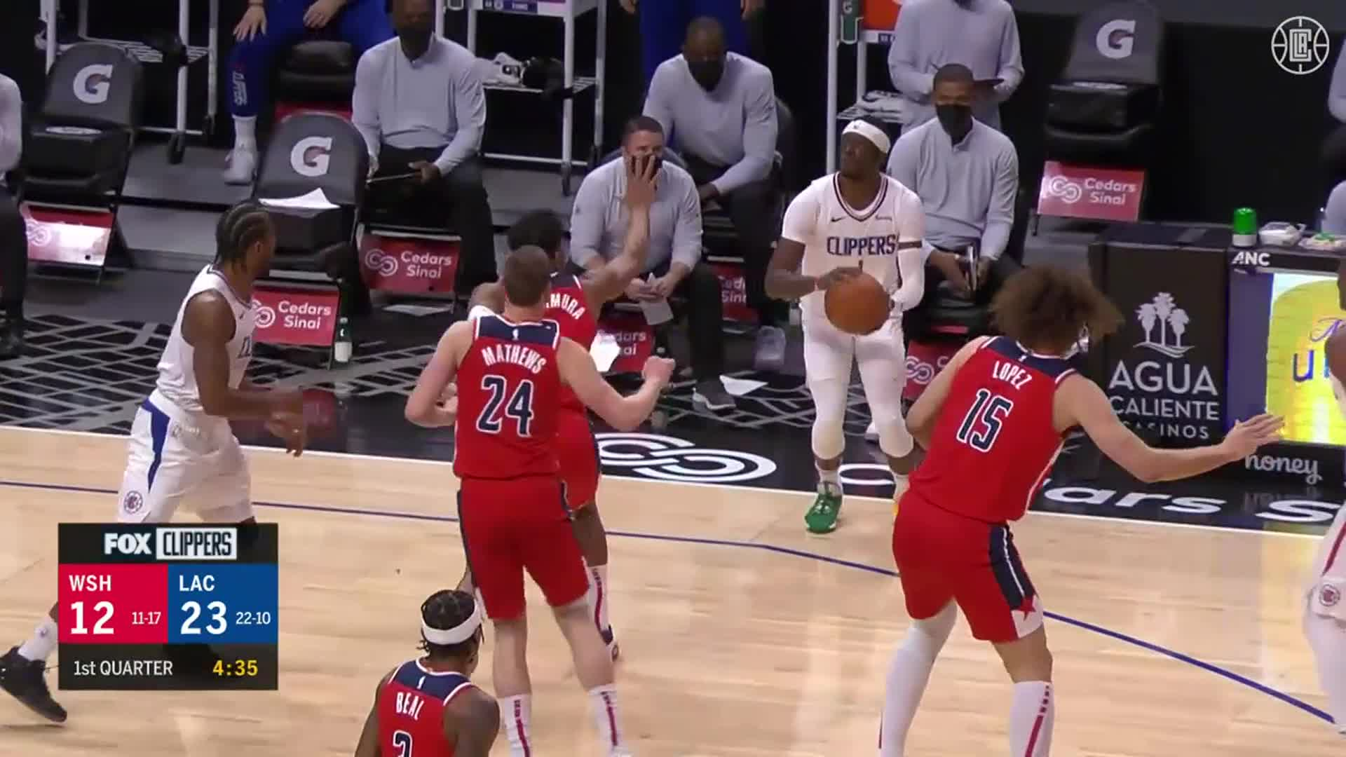 Reggie Jackson 17 Pts, 3 Threes, 5 Reb vs Wizards | (2.23.21)