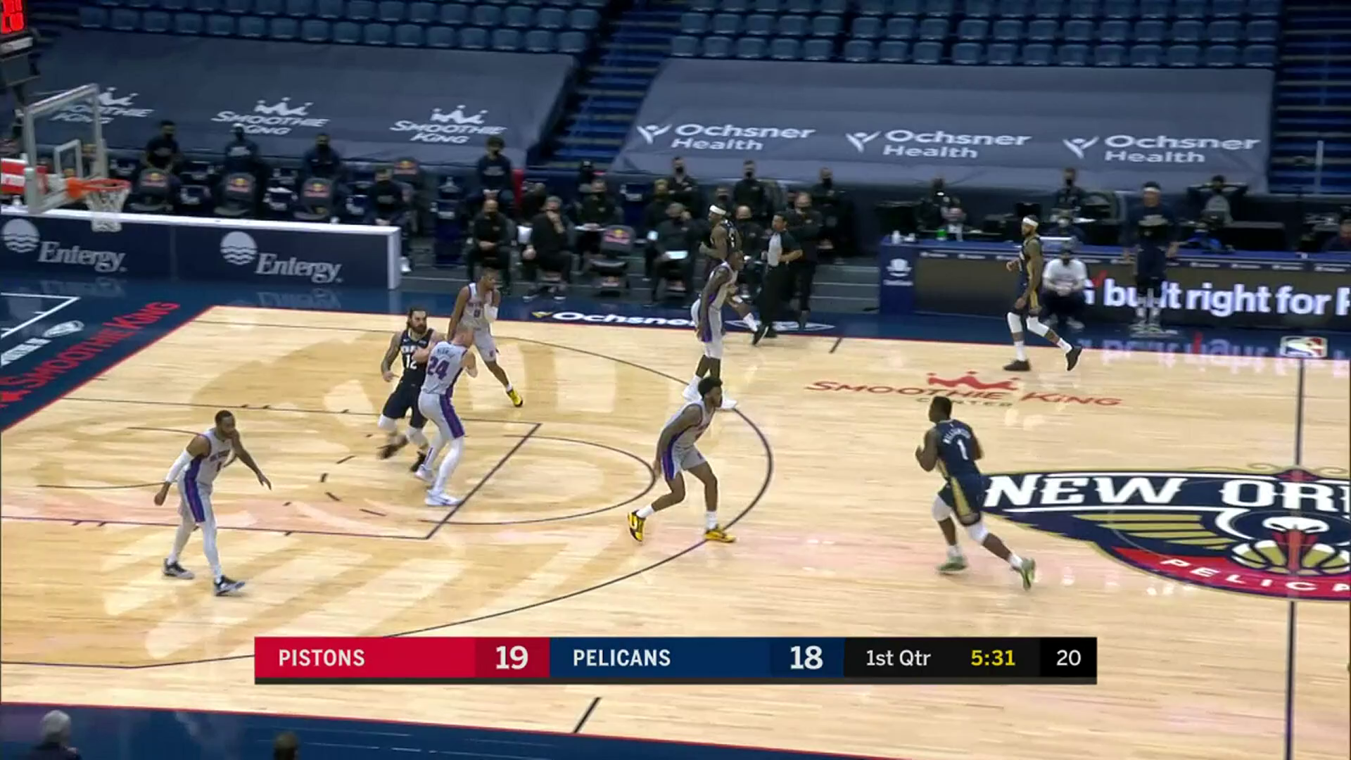 Zion Williamson takes it coast-to-coast | Pelicans-Pistons Highlights