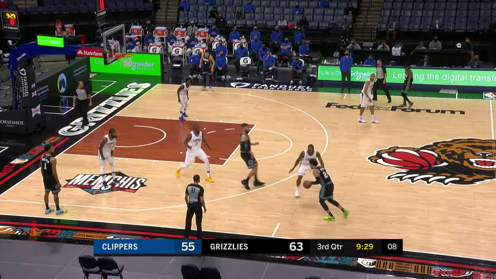 Dillon Brooks with the smooth floater