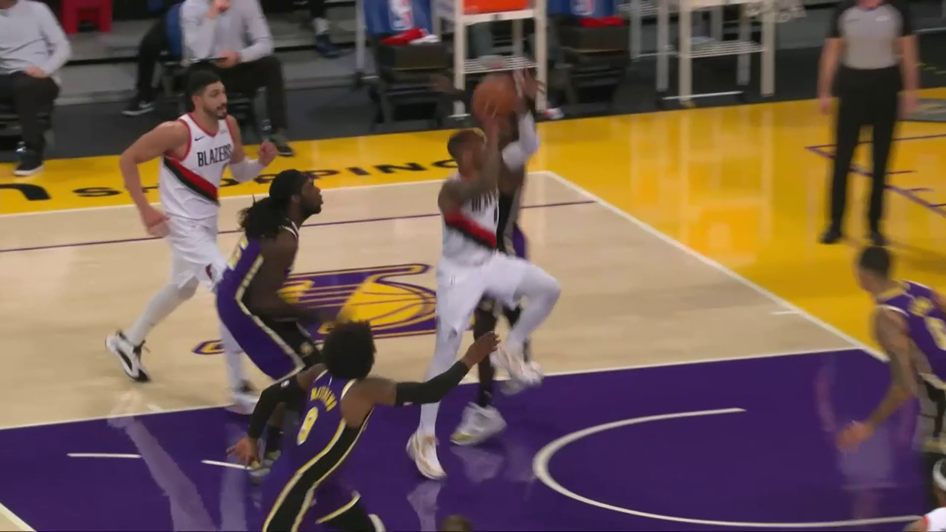 Damian Lillard gets this impossible shot to fall