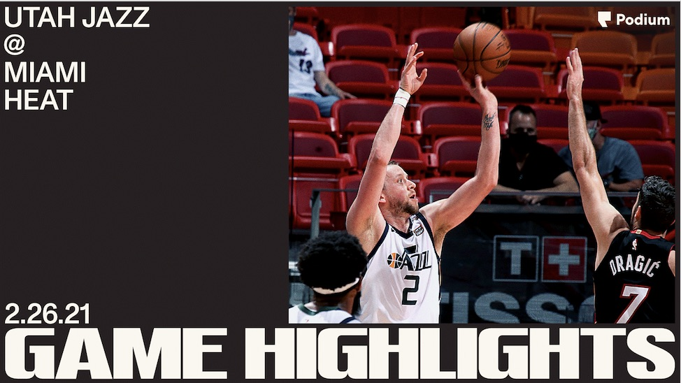 Highlights: Jazz 116 | Heat 124