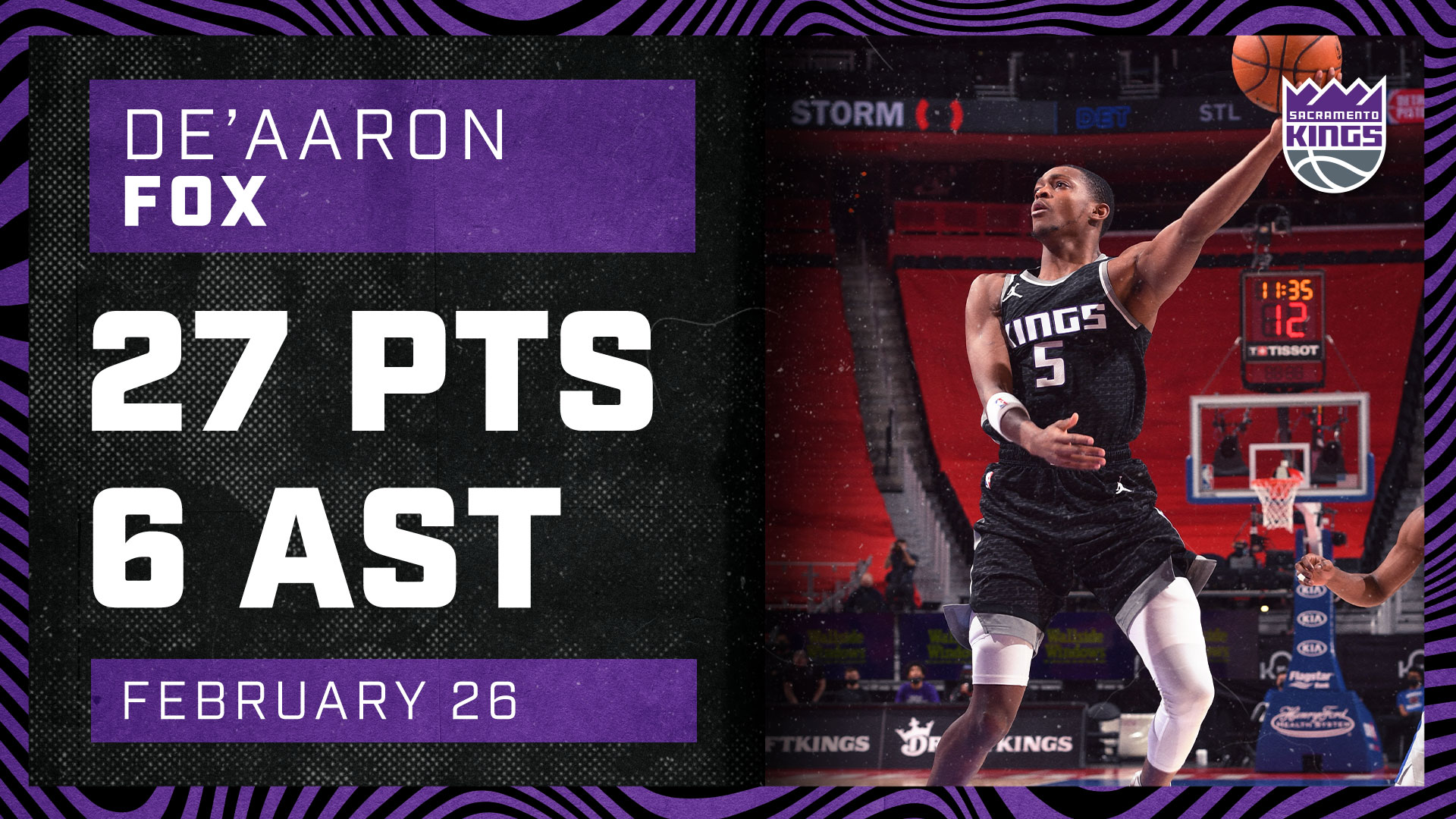 Swipa was unstoppable in the Motor City Matchup | Kings vs Pistons 2.26.21