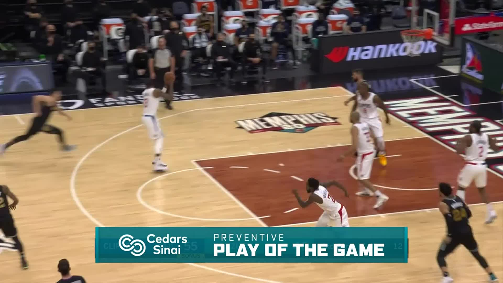 Cedars-Sinai Preventive Play of the Game | Clippers vs Grizzlies (2.26.21)