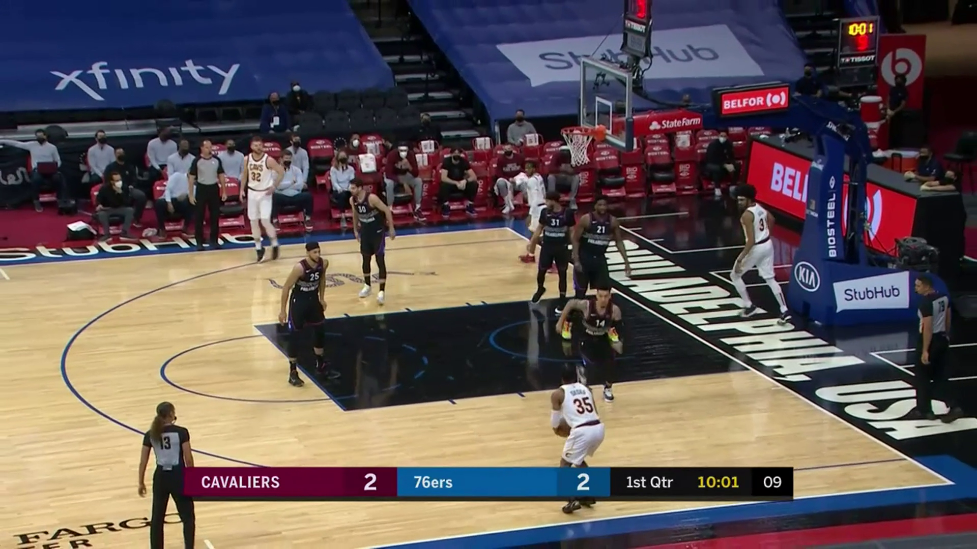 Allen Assists to Okoro for Three