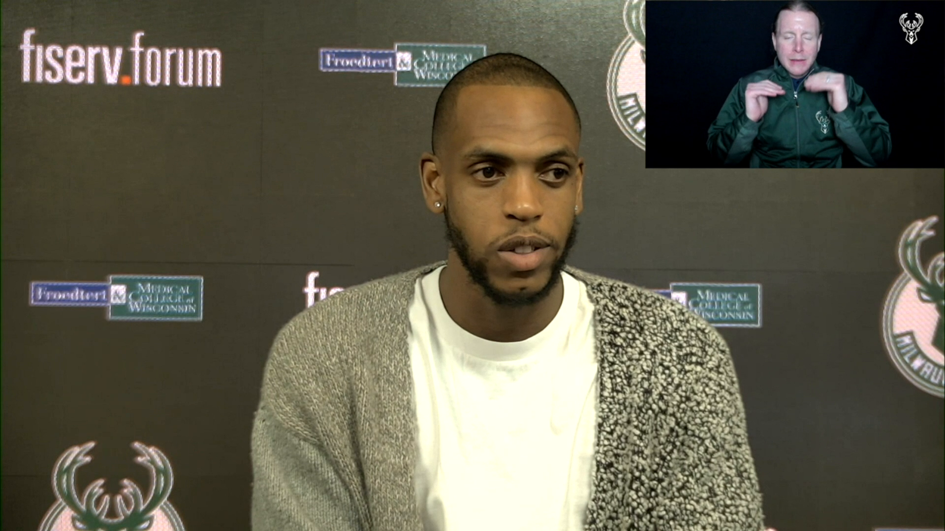 Khris Middleton ASL Press Conference | 2.25.21