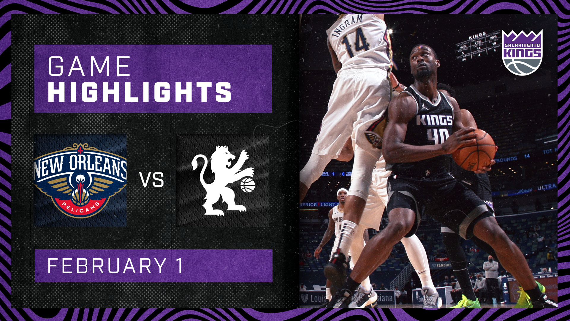 Kings Close Out Road Trip with Thrilling W in NOLA | Kings vs Pelicans 2.1.21