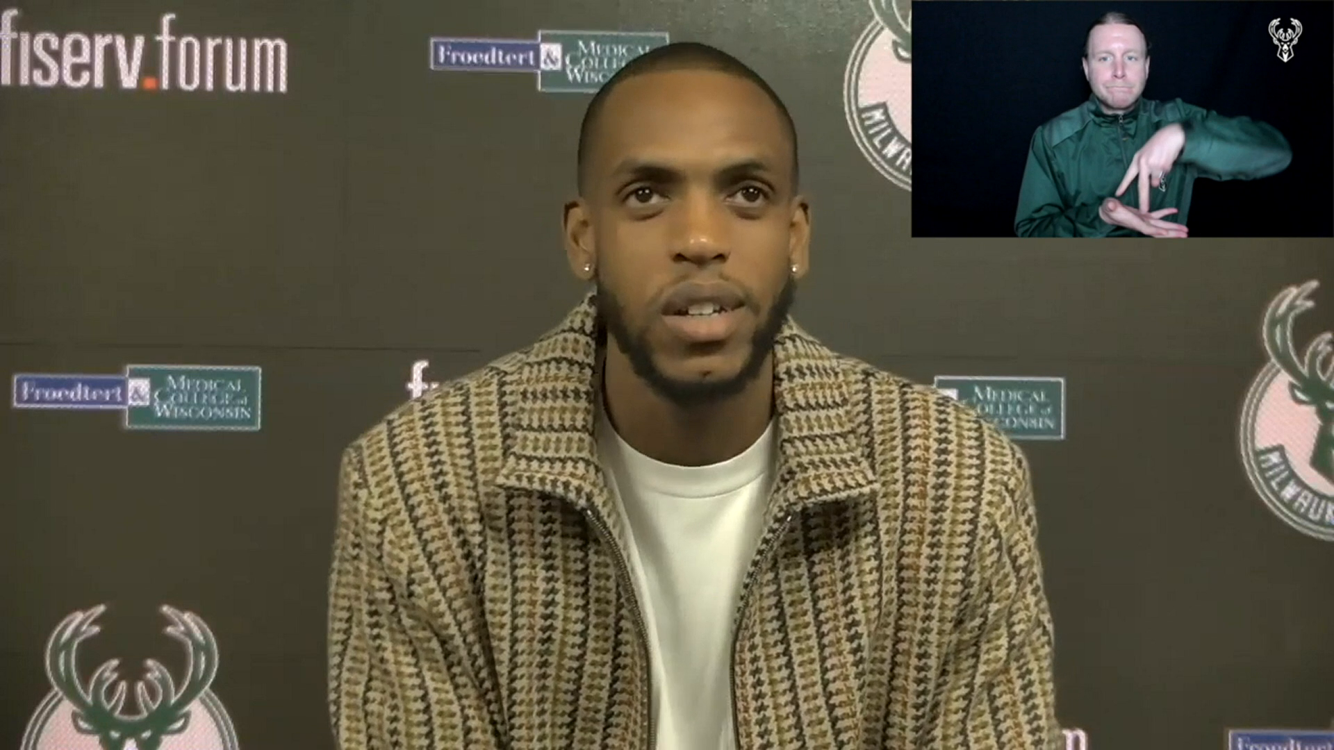 Khris Middleton ASL Press Conference | 2.28.21