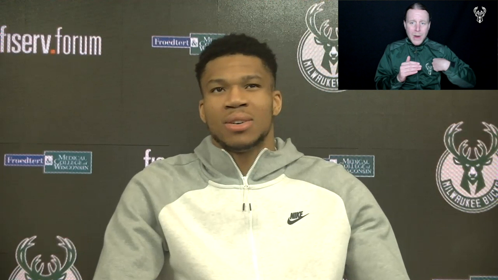 Giannis Antetokounmpo ASL Press Conference | 2.28.21