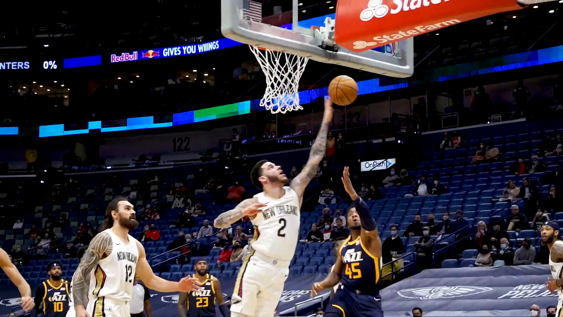 Pelicans vs. Jazz Slo-Mo Highlights 3/1/21