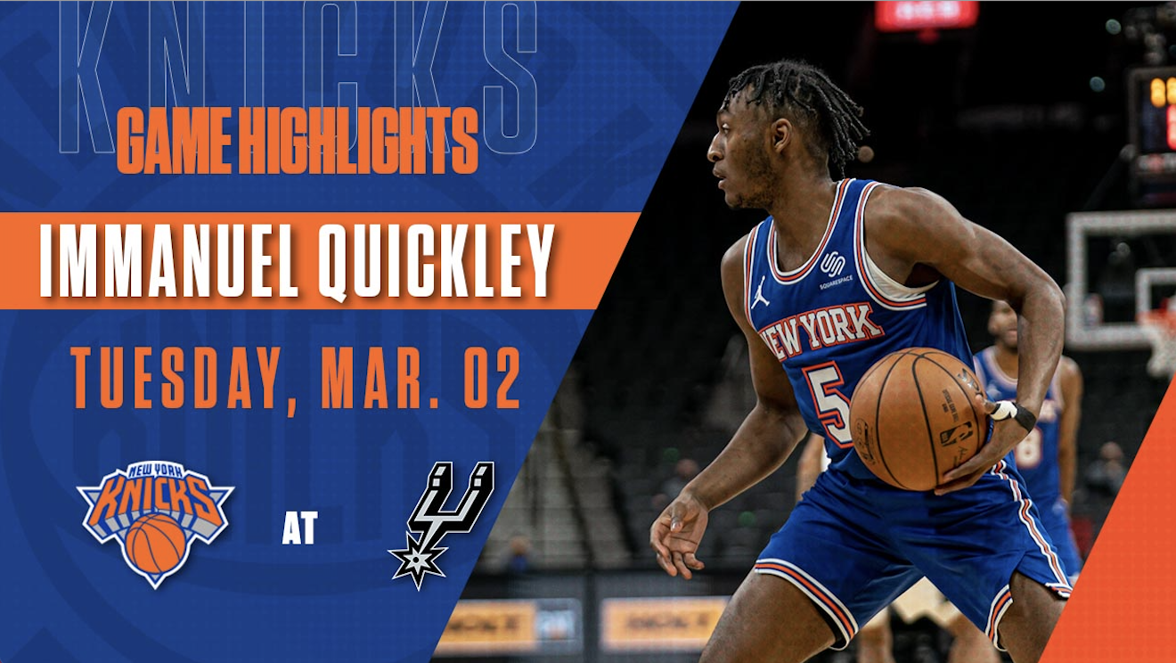 Highlights: Immanuel Quickley (26 Points) | Knicks @ Spurs