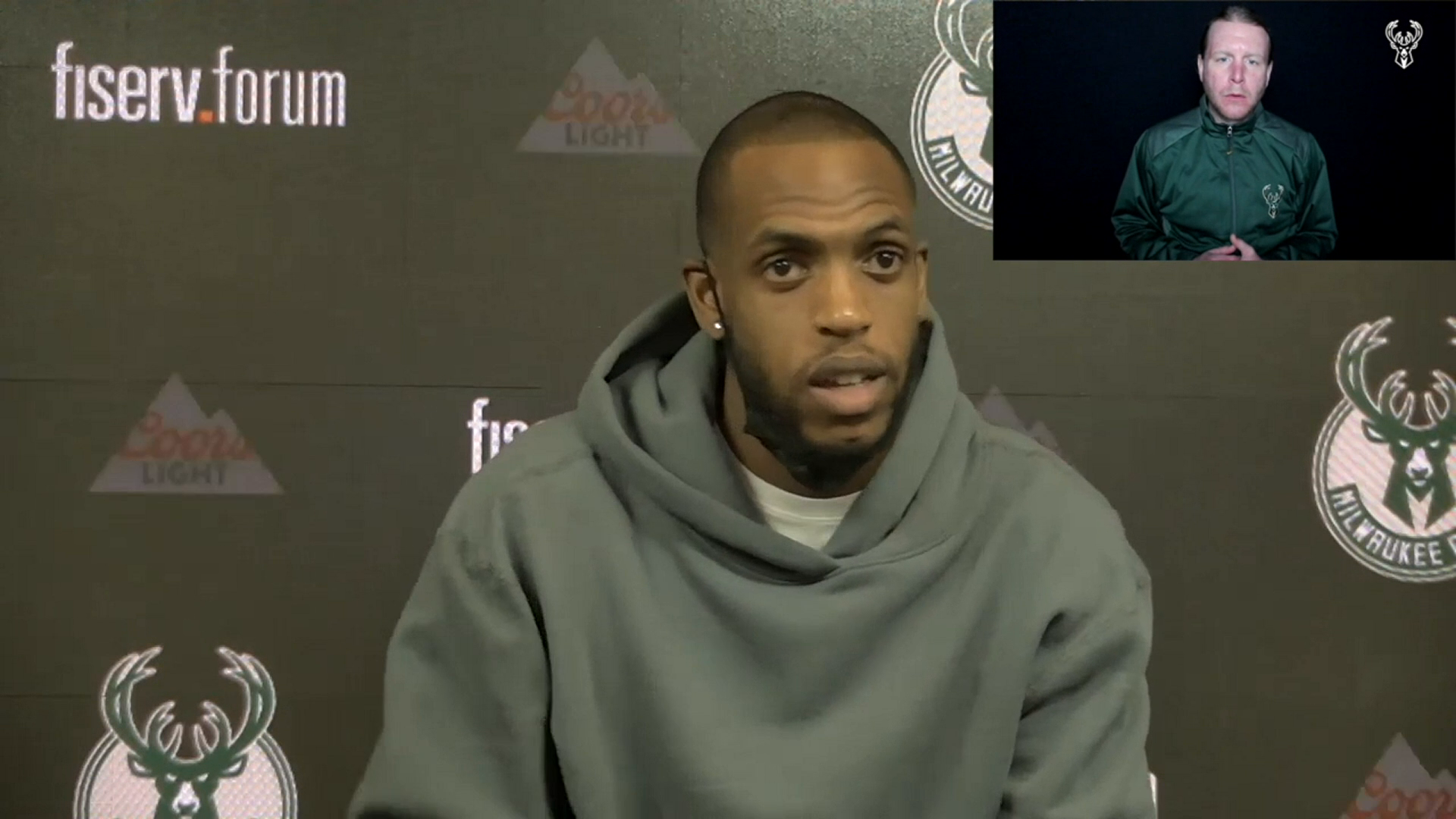 Khris Middleton ASL Press Conference | 3.2.21