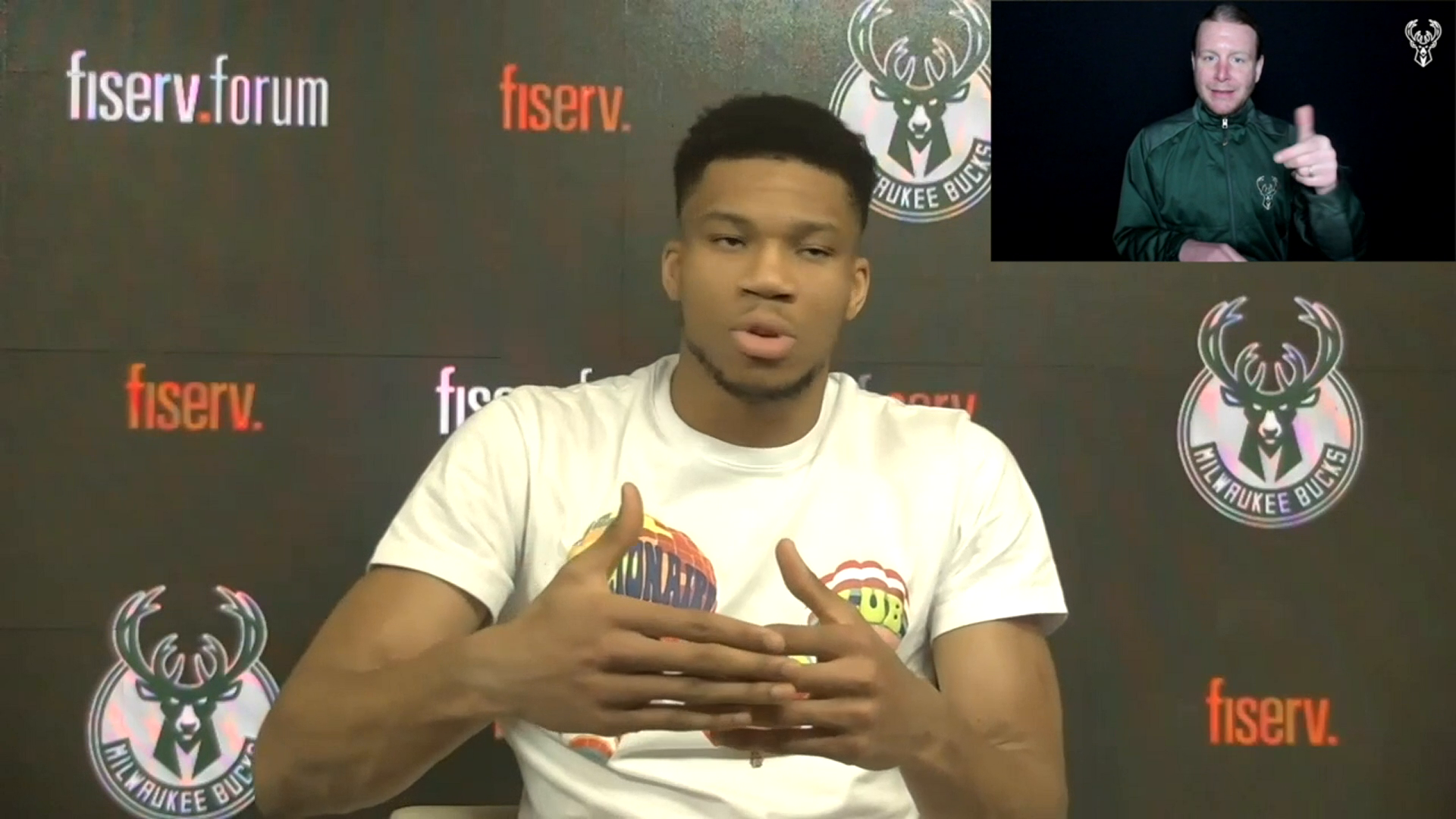 Giannis Antetokounmpo ASL Press Conference | 3.2.21