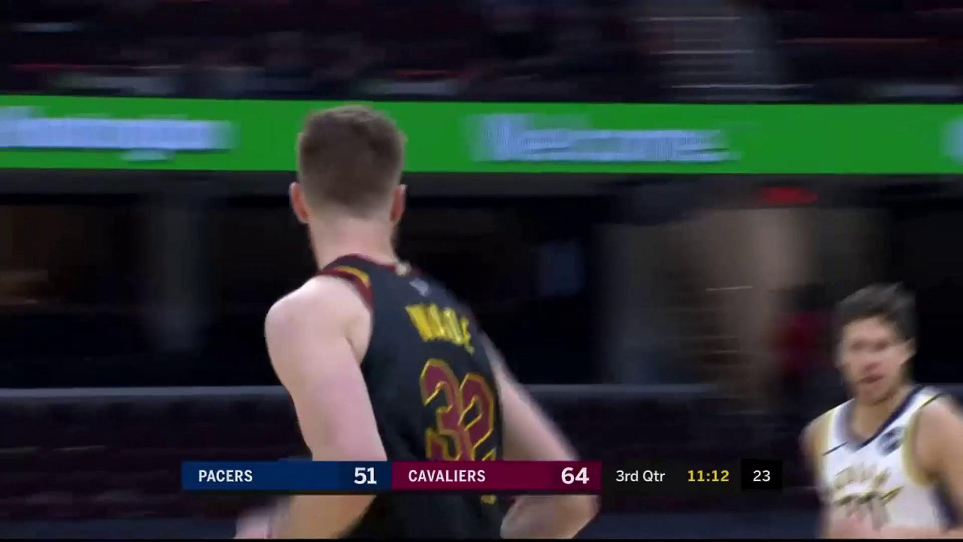 Garland Finds Wade Late in the Shot Clock