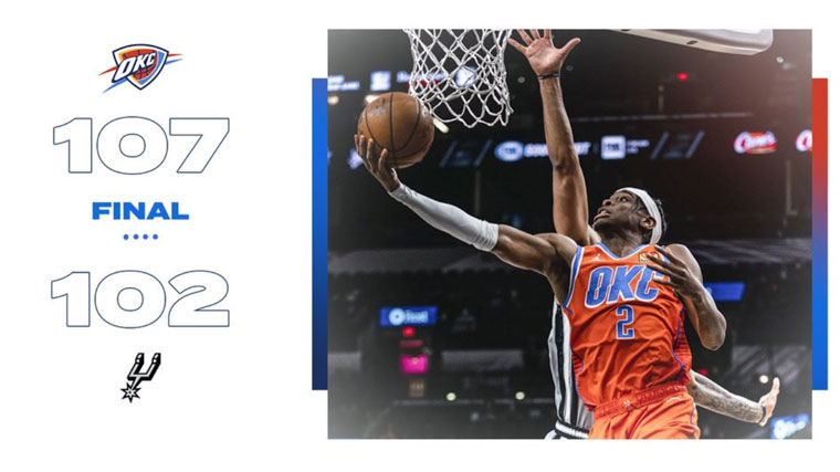 Highlights: Thunder 107, Spurs 102