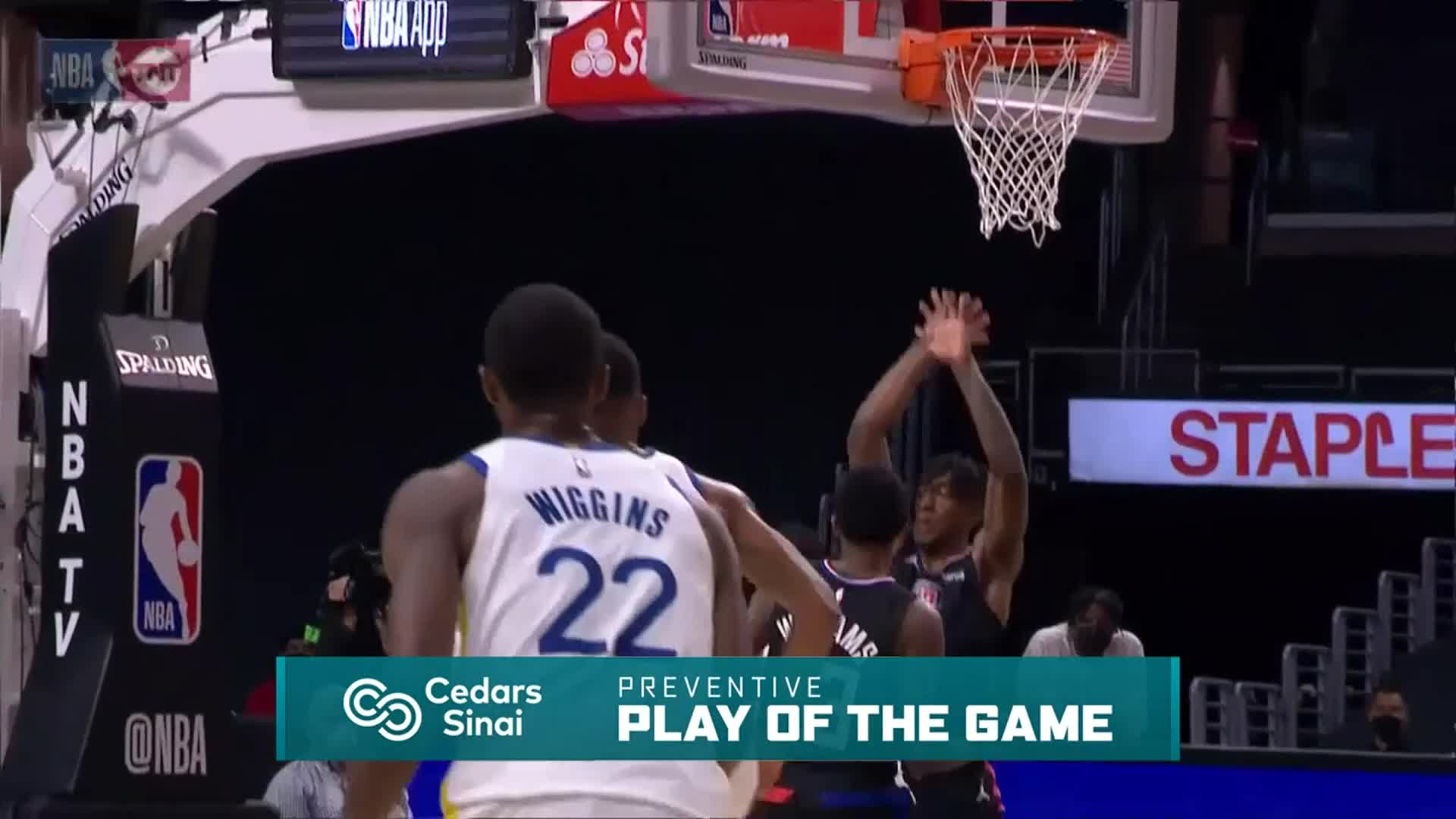 Cedars-Sinai Preventive Play of the Game | Clippers vs Warriors (3.11.21)