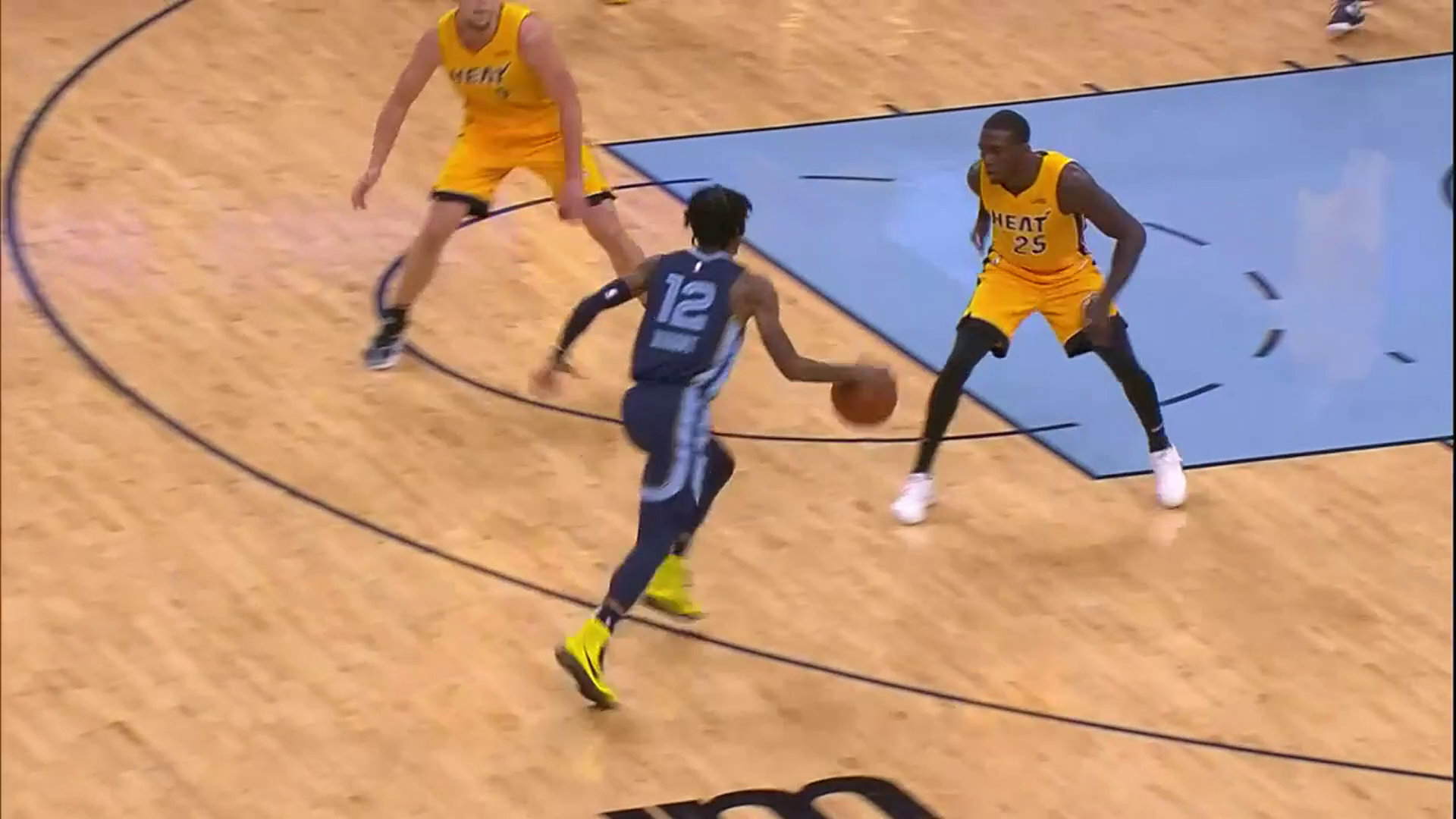 Ja Morant gets fancy with euro step and-1