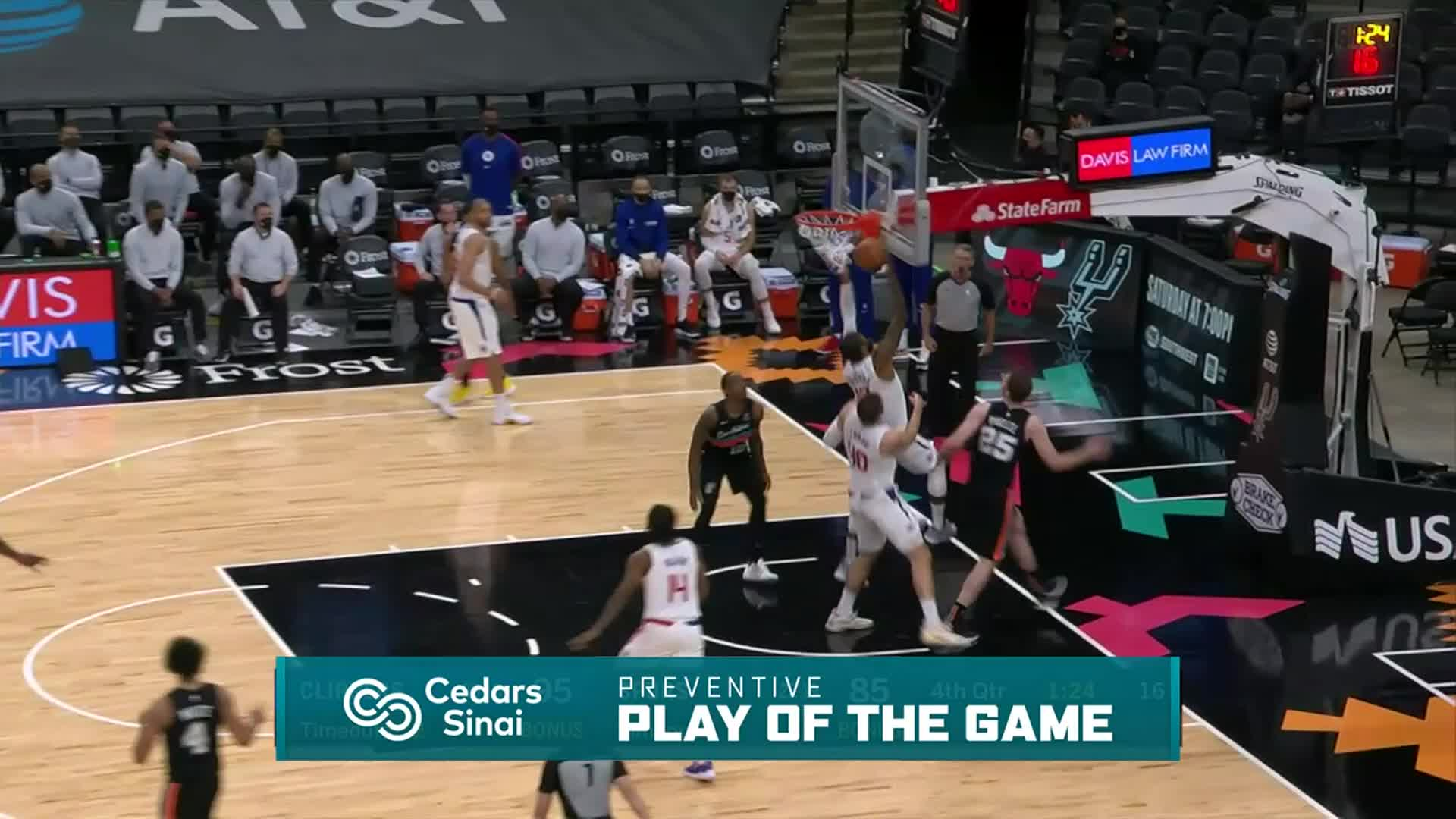 Cedars-Sinai Preventive Play of the Game | Clippers vs Spurs (3.25.21)