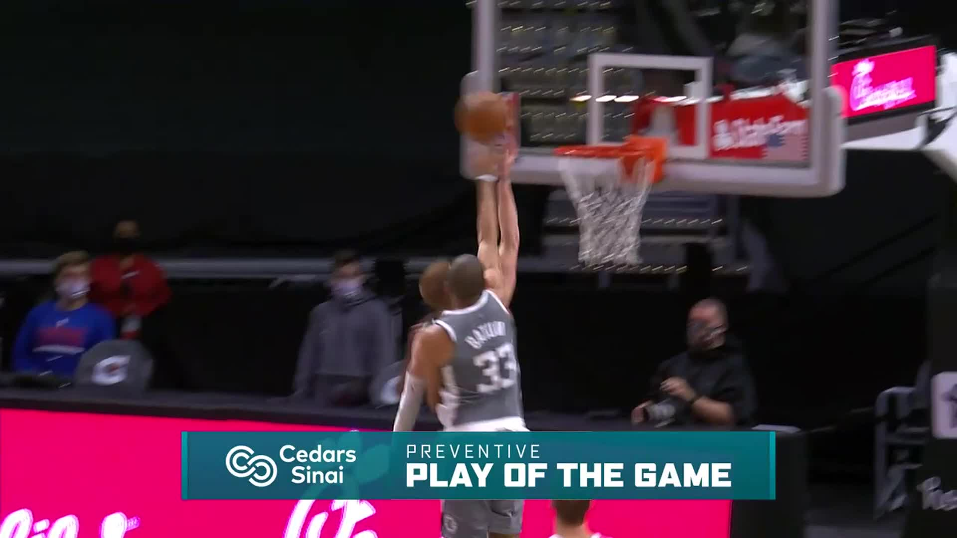 Cedars-Sinai Preventive Play of the Game | Clippers vs Bucks (3.29.21)