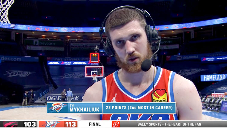 Walk-off: Svi Mykhailiuk