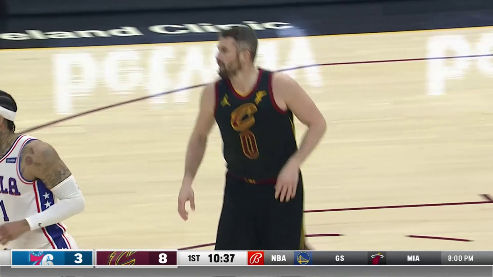 Kevin Love Knocks Down Two Early Triples
