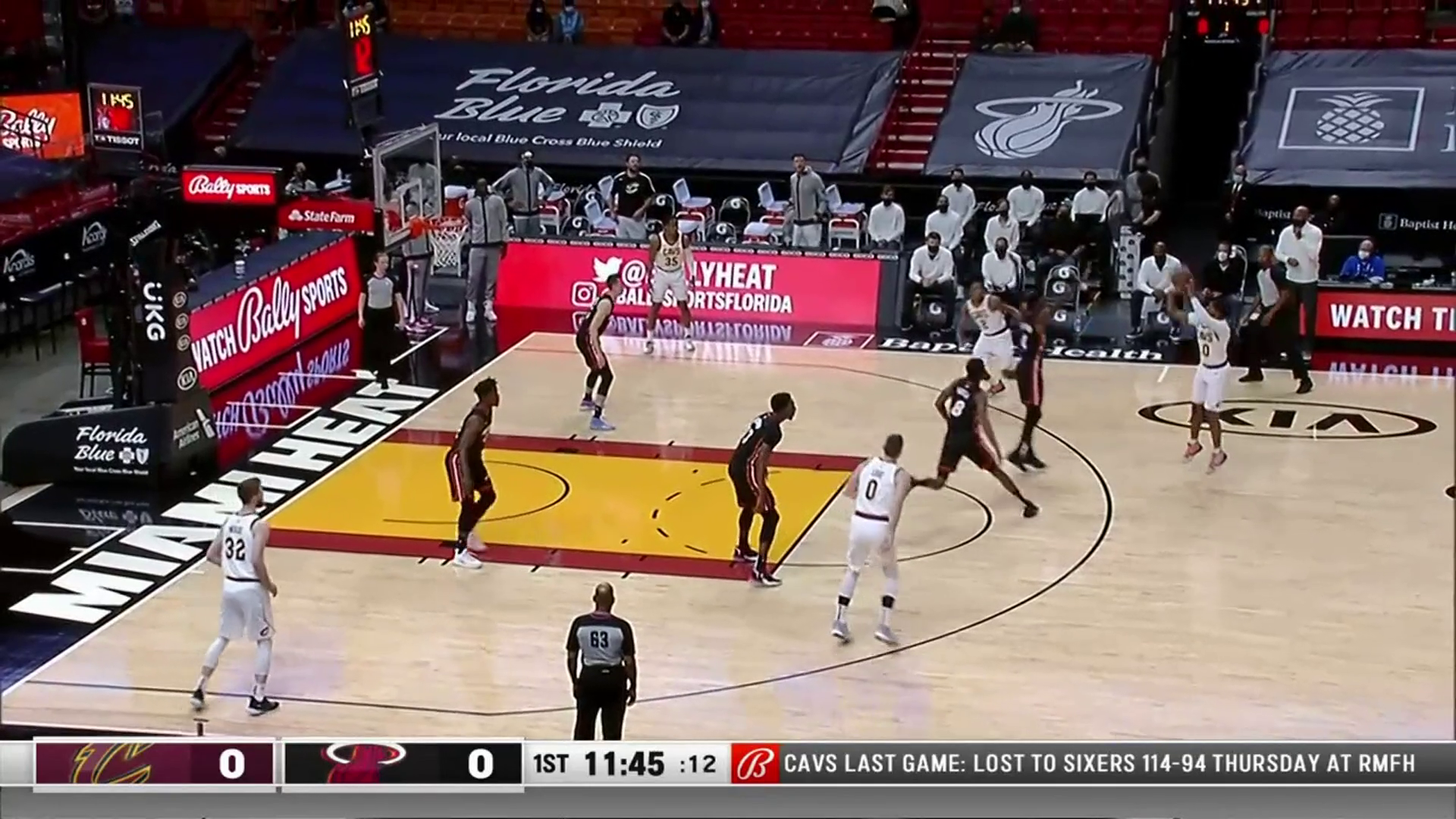 Garland's Three Gets Cavs on the Board