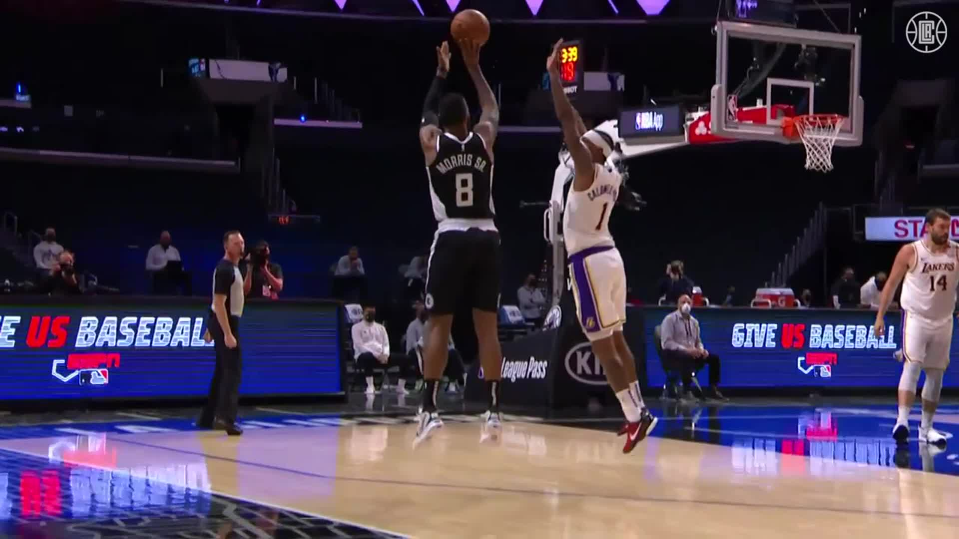 Marcus Morris Sr. 22 Pts, 4 Threes, 7 Reb vs Lakers | (4.4.21)