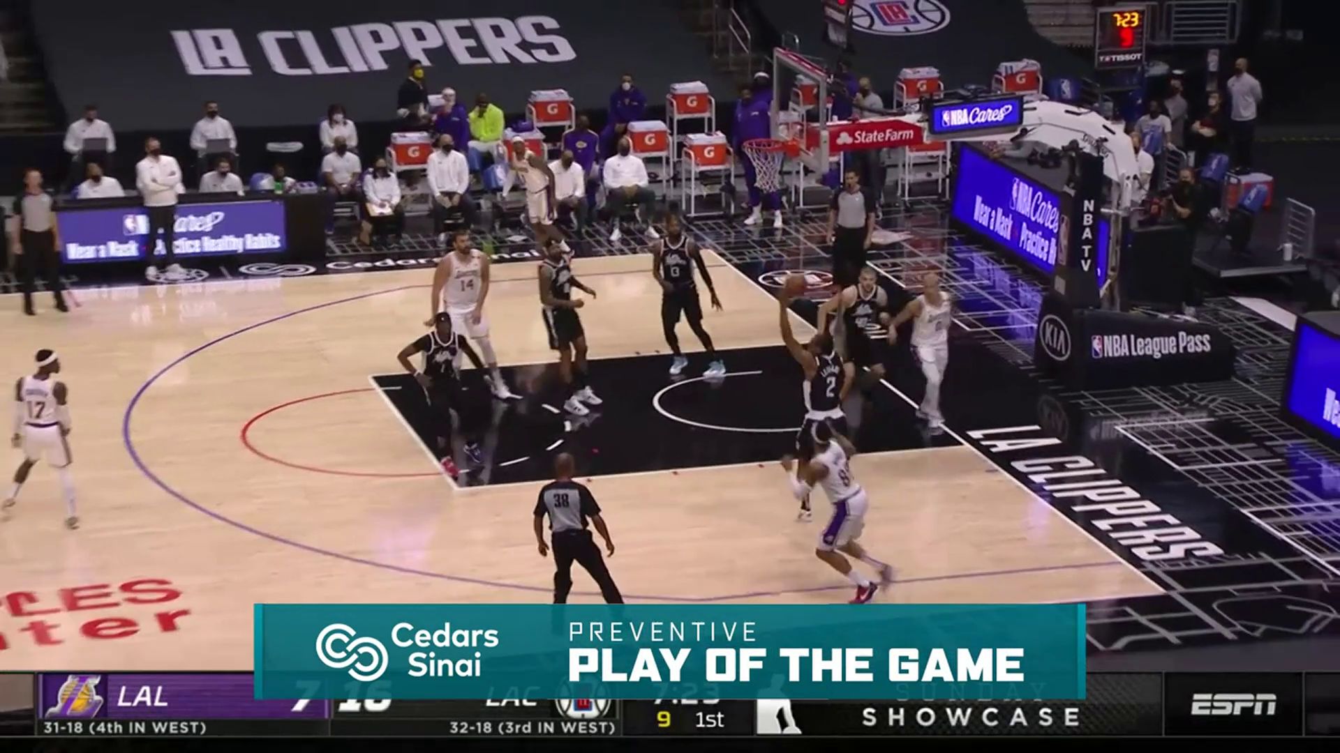 Cedars-Sinai Preventive Play of the Game | Clippers vs Lakers (4.4.21)