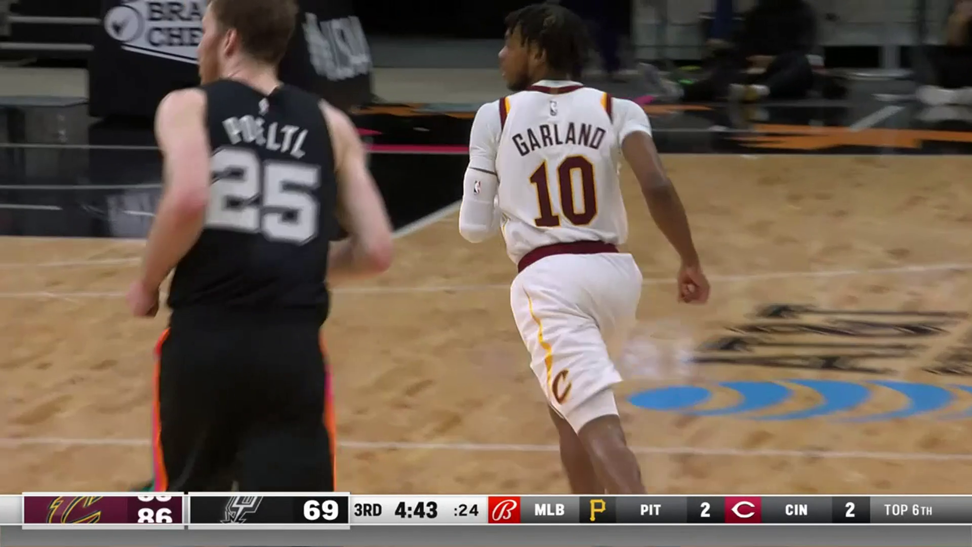 Garland with a pair of Triples for New Career-High