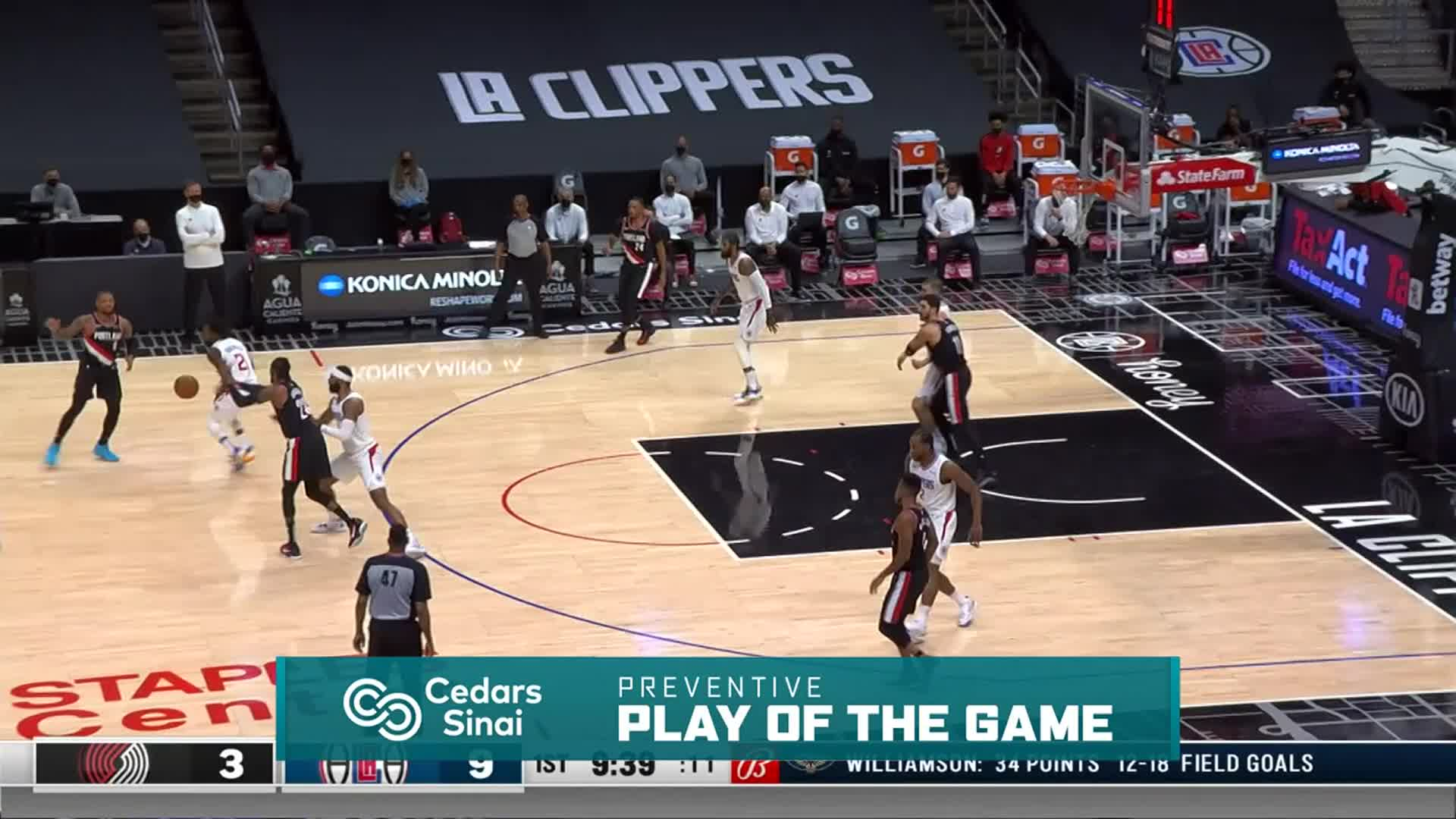 Cedars-Sinai Preventive Play of the Game | Clippers vs Trail Blazers (4.6.21)