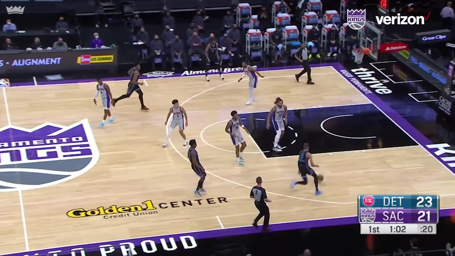 Ty with a Stellar Dime to Hassan | Kings vs Pistons 4.8.21