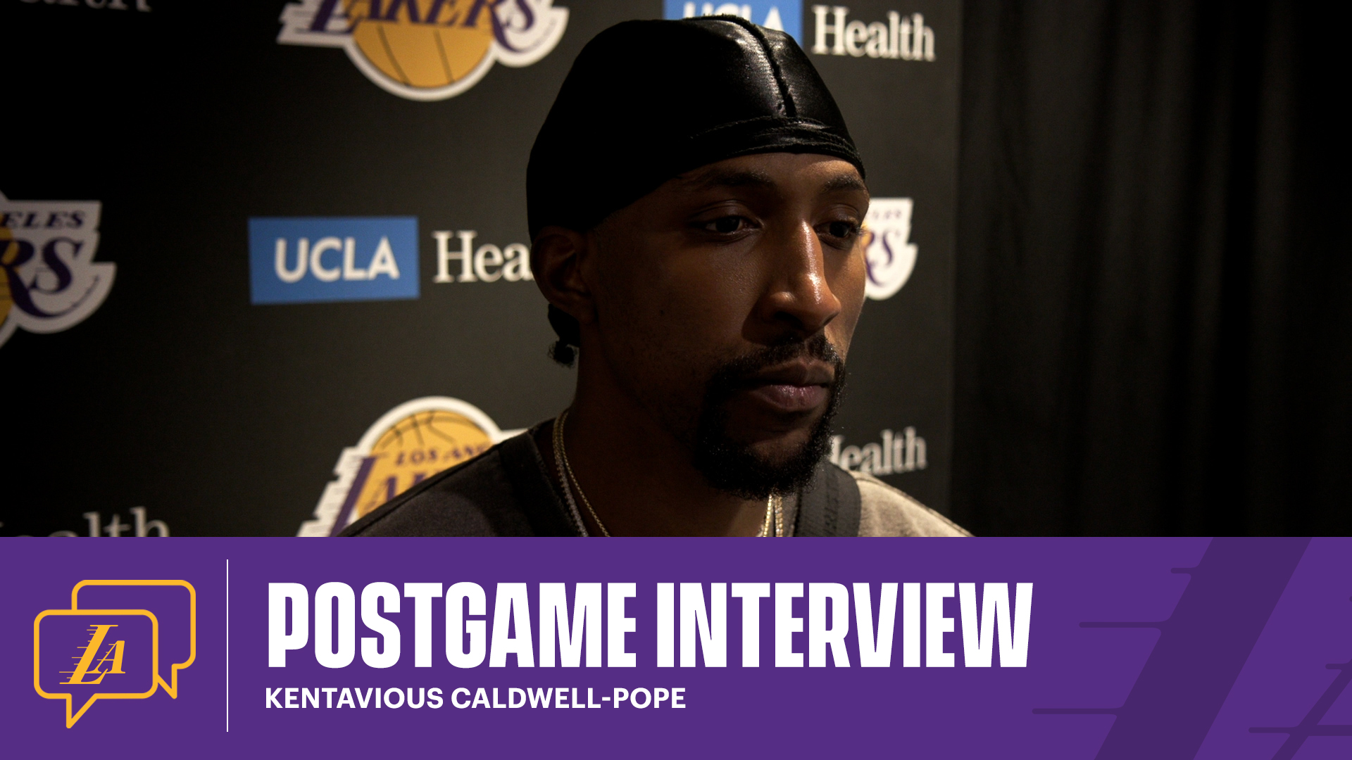 Lakers Postgame: Kentavious Caldwell-Pope (4/8/21)