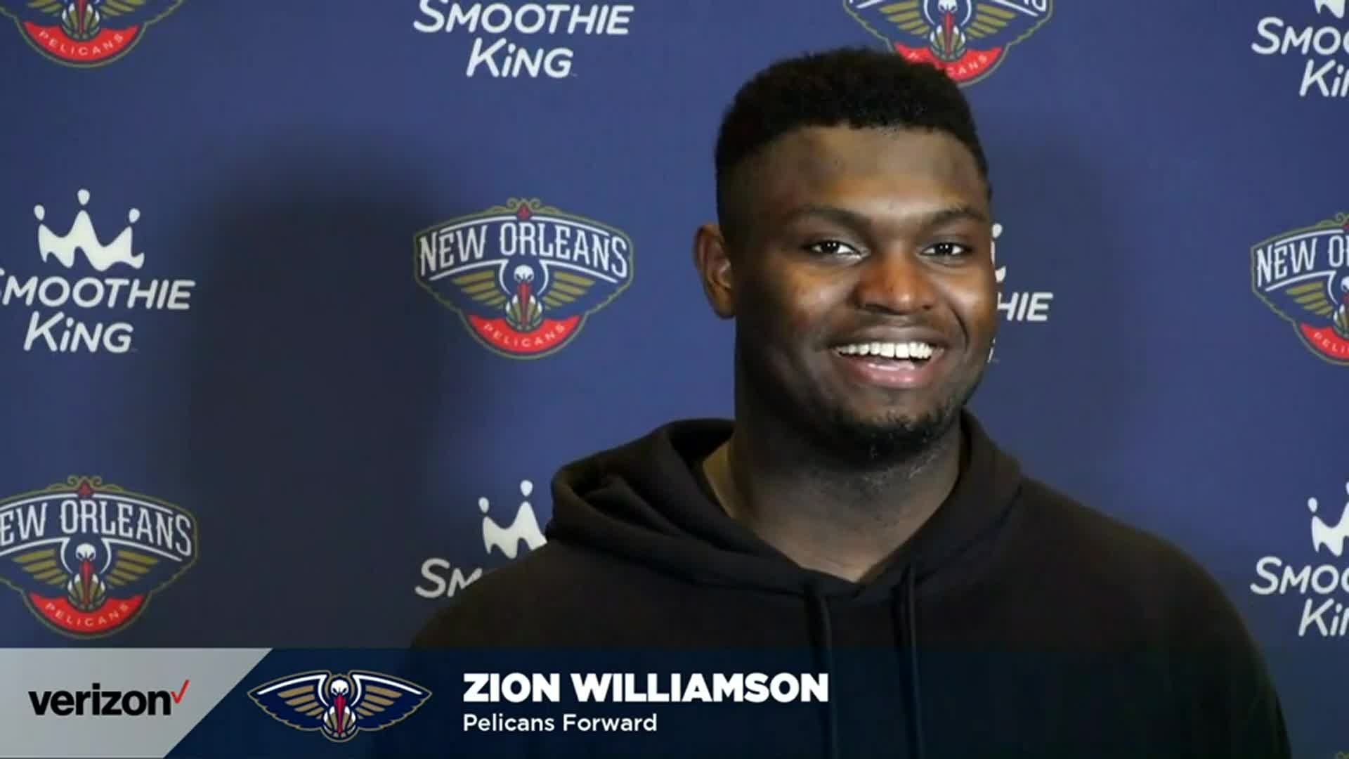 Pelicans-76ers Postgame Interview: Zion Williamson 4-9-21