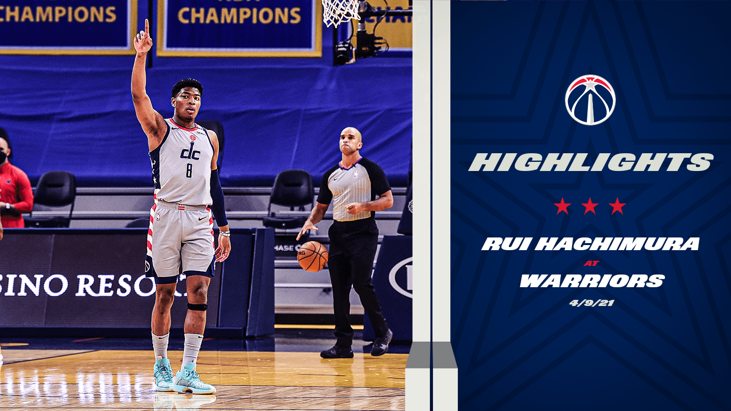Highlights: Rui Hachimura at Warriors - 4/9/21