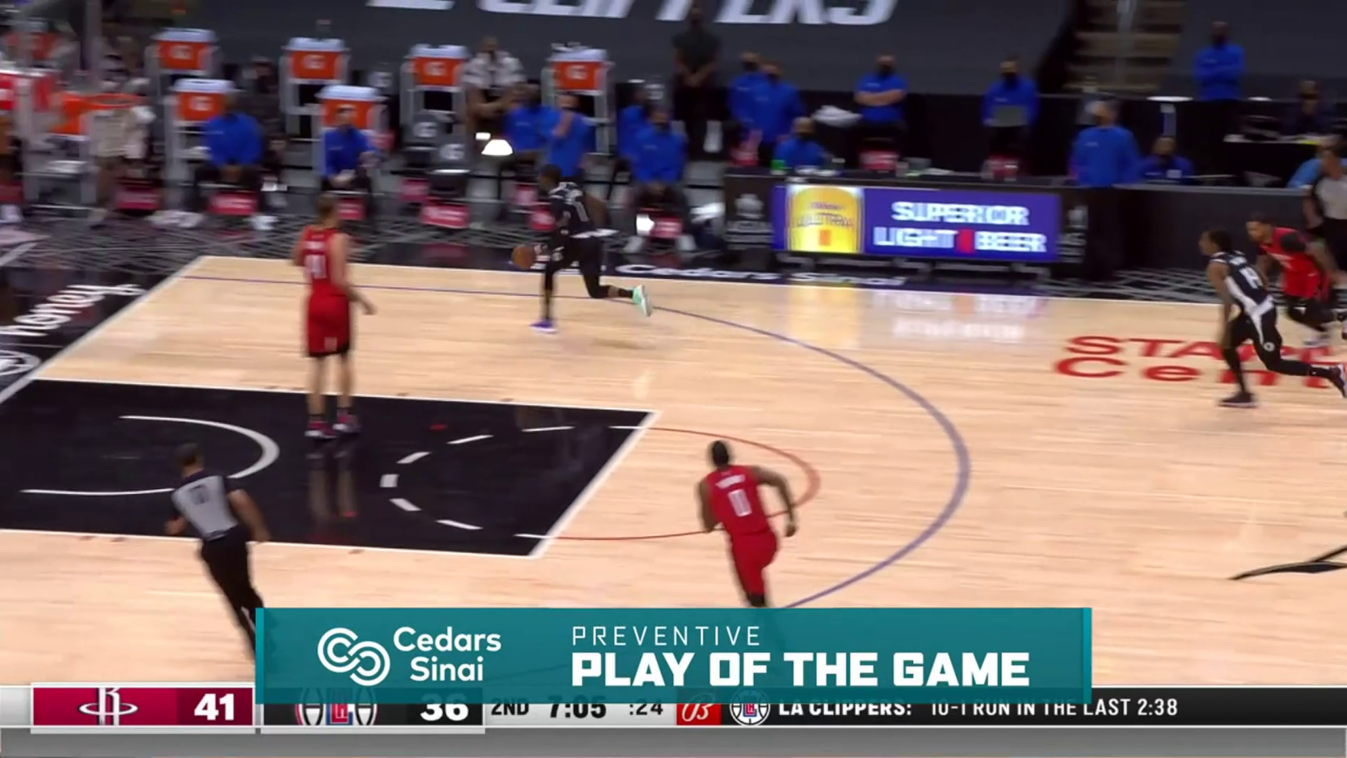 Cedars-Sinai Preventive Play of the Game | Clippers vs Rockets (4.9.21)