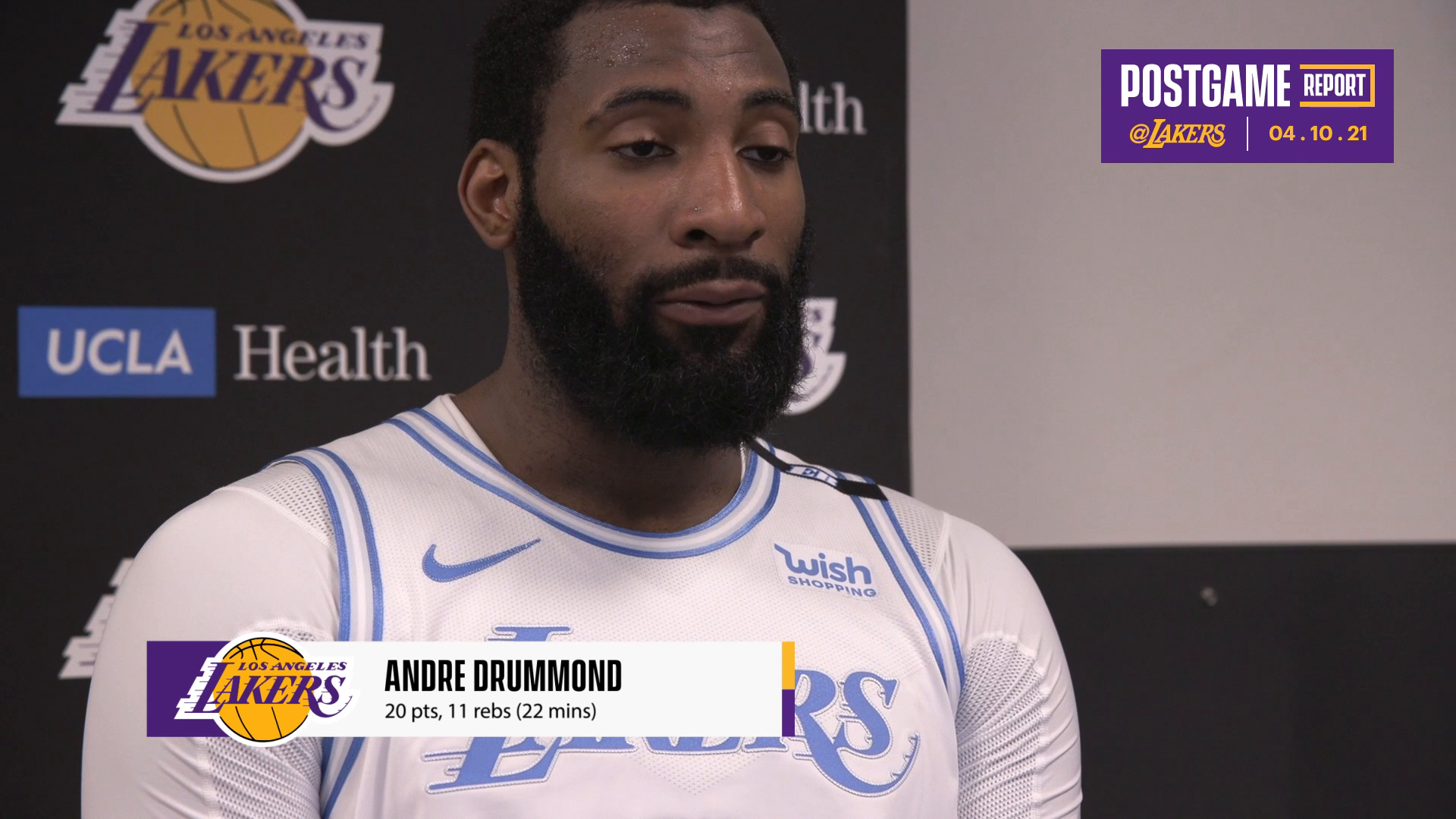 Lakers Postgame: Andre Drummond (4/10/21)