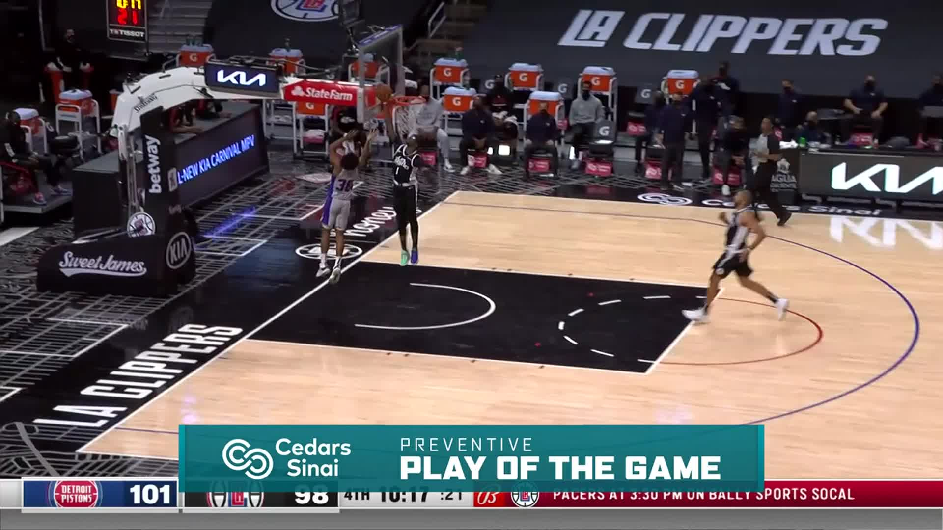 Cedars-Sinai Preventive Play of the Game | Clippers vs Pistons (4.11.21)