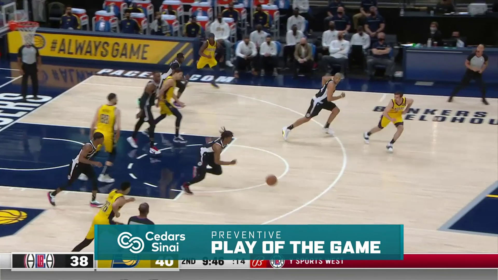 Cedars-Sinai Preventive Play of the Game | Clippers vs Pacers (4.13.21)