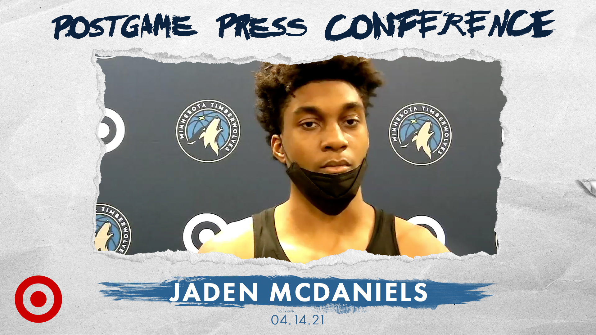 Jaden McDaniels Postgame Press Conference - April 14, 2021
