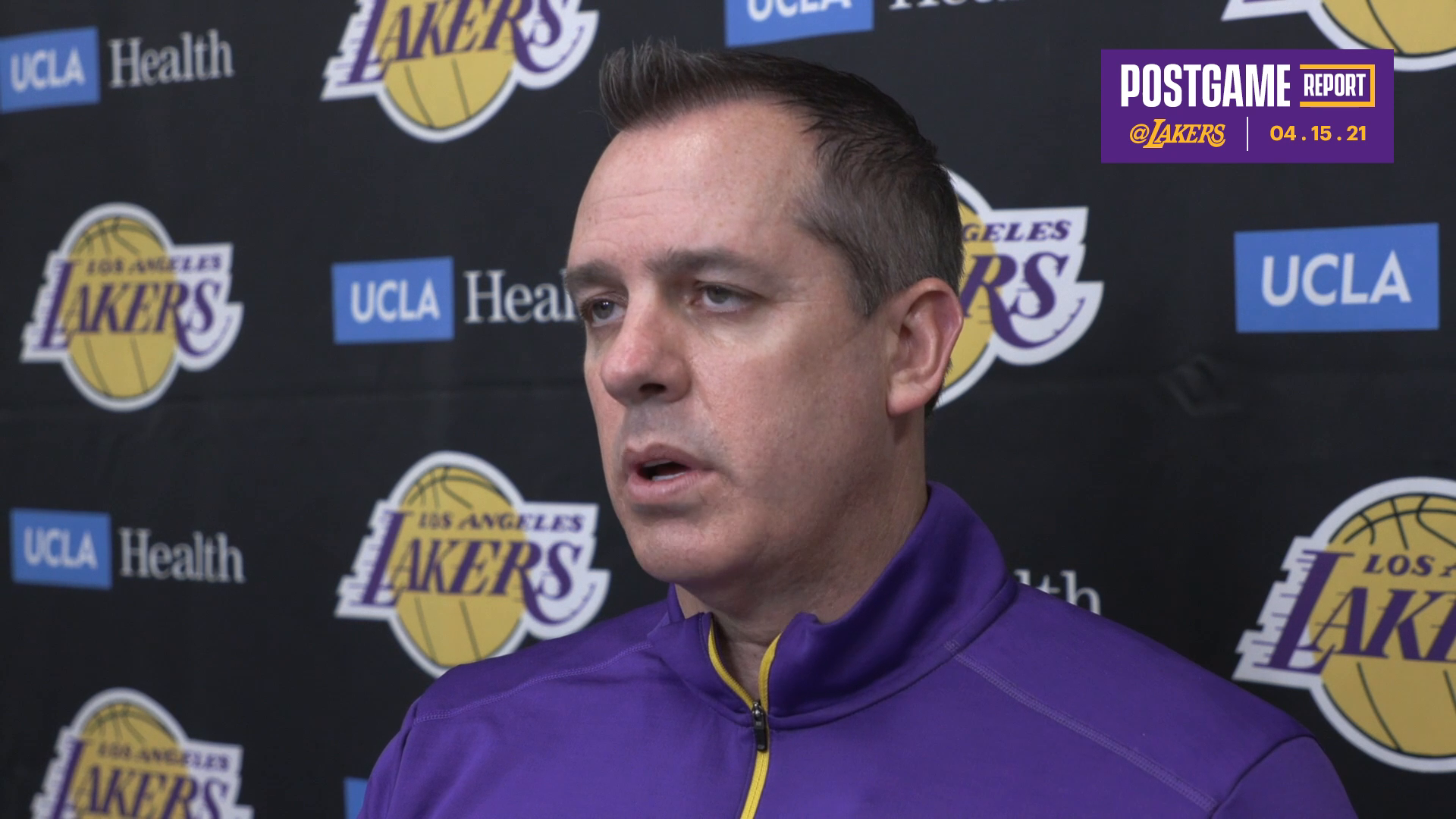 Lakers Postgame: Frank Vogel (4/15/21)