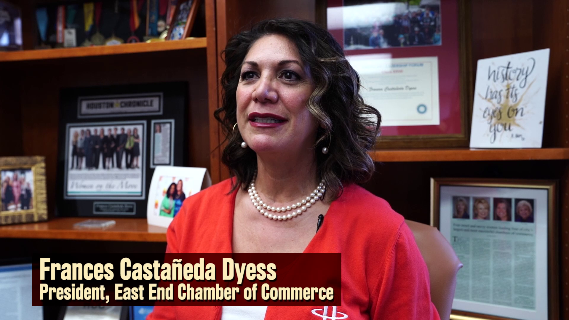 Noche Latina Recognition - Frances Castaneda Dyess