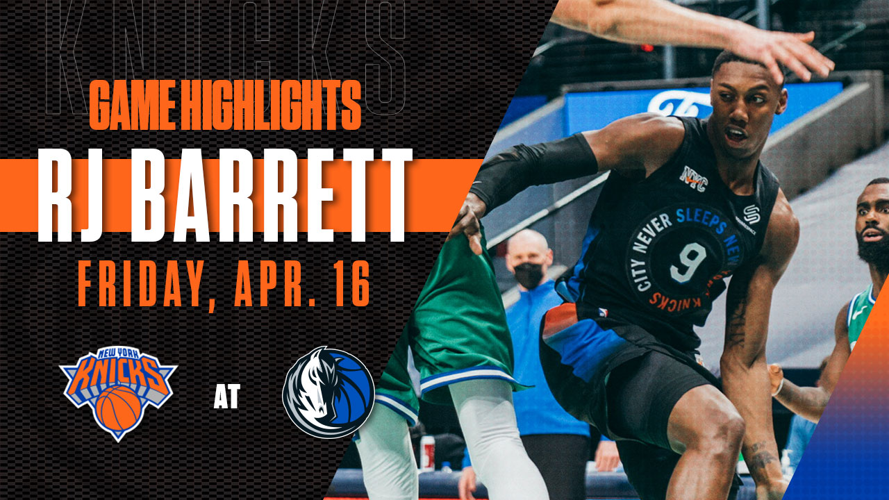 Highlights: RJ Barrett (24 Points) | Knicks @ Mavericks
