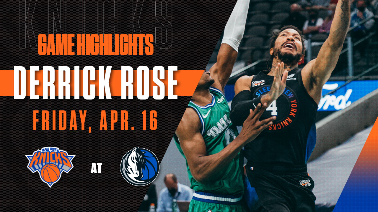 Highlights: Derrick Rose (15 Points) | Knicks @ Mavericks