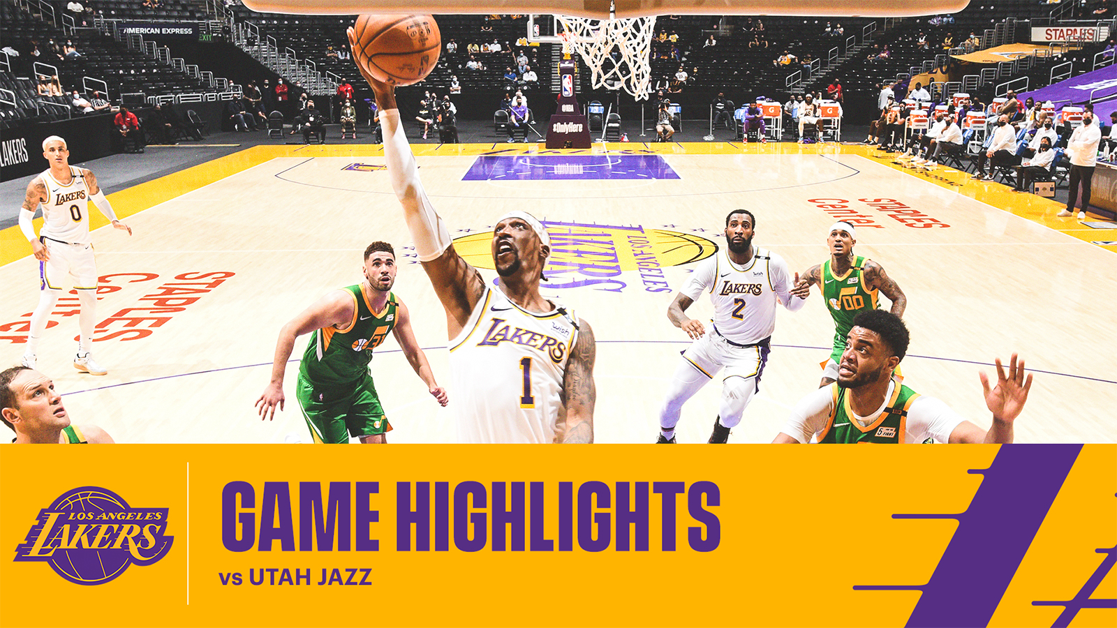 HIGHLIGHTS | Kentavious Caldwell-Pope (25 pts, 5 rebs, 2 asts) vs Utah Jazz